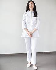Медицинский женский костюм Мишель (белый), фото 2