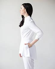 Медицинский женский костюм Мишель (белый), фото 3