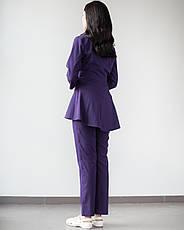 Медицинский женский костюм Мишель (фиолетовый), фото 2