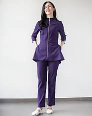 Медицинский женский костюм Мишель (фиолетовый), фото 3