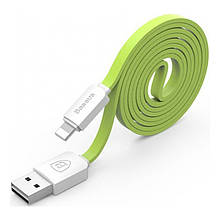 Кабель Baseus String Lightning 1M Green+White