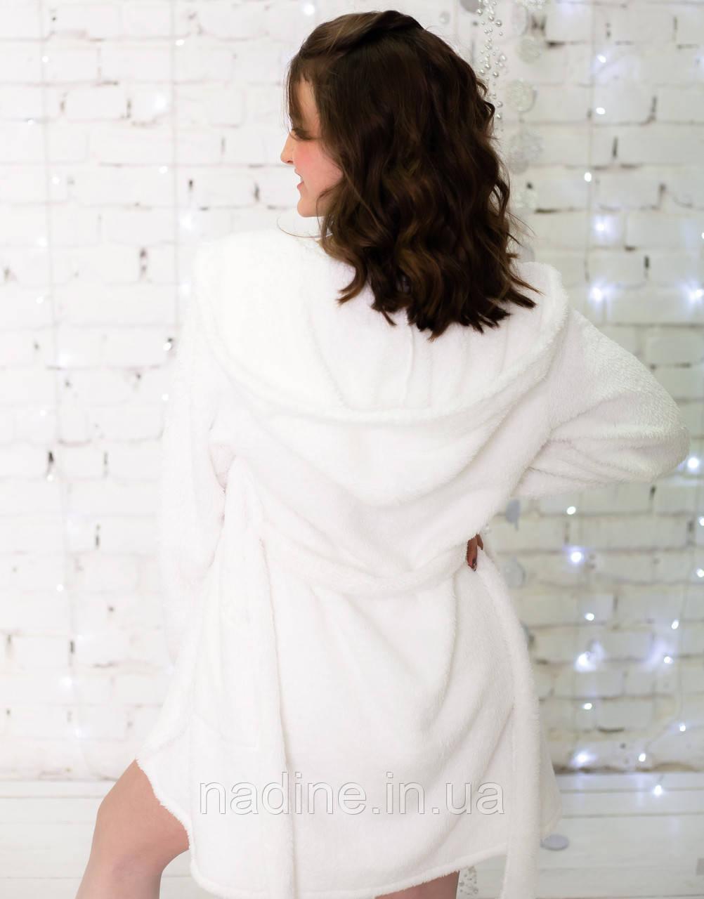 Теплий махровий халат Eirena Nadine (white 52-573) білий на зріст 152