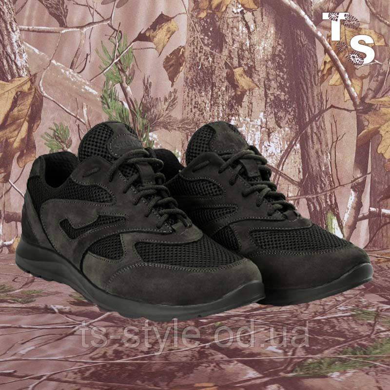 Кросівки Pantherа чорні нубук 3D-сітка Airmesh