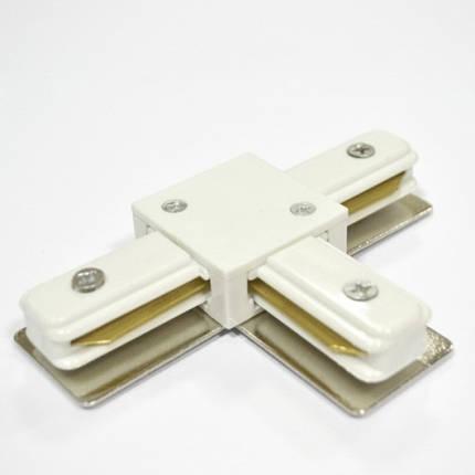Соединитель для треков LED светильников PHS(Т) т-образный однофазный 16A белый Код. 58515, фото 2