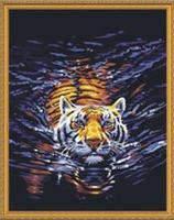 "Набор для раскрашивания на холсте ""Тигр""  40х50 см."