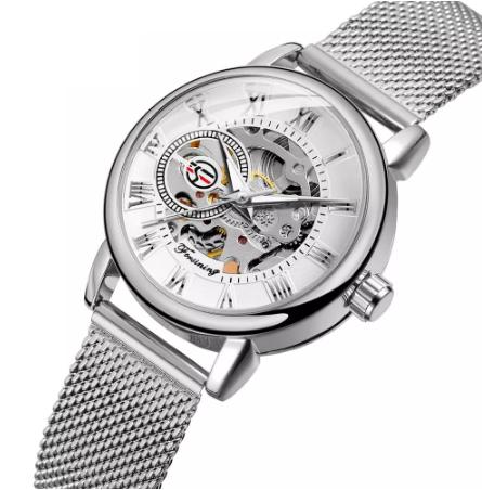 Женские часы Forsining механические часы скелетон