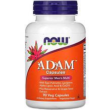 """Вітаміни для чоловіків NOW Foods """"ADAM"""" (90 капсул)"""