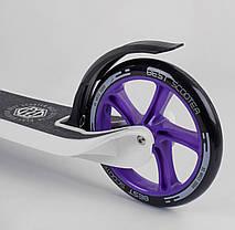 """Самокат двухколесный 90003 """"Best Scooter"""", колеса PU - 20 см, широкий велосипедный руль, фото 2"""