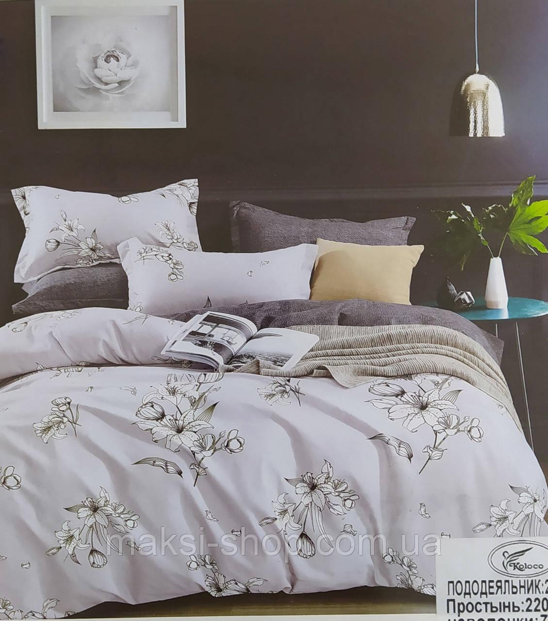 Комплект постельного белья евро размер комбинированное сатин-байка Koloco Турция