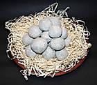 Кульки з білої глини і блакитної глини 500 грам (Шарики из белой глины и голубой глины 500 грамм), фото 2