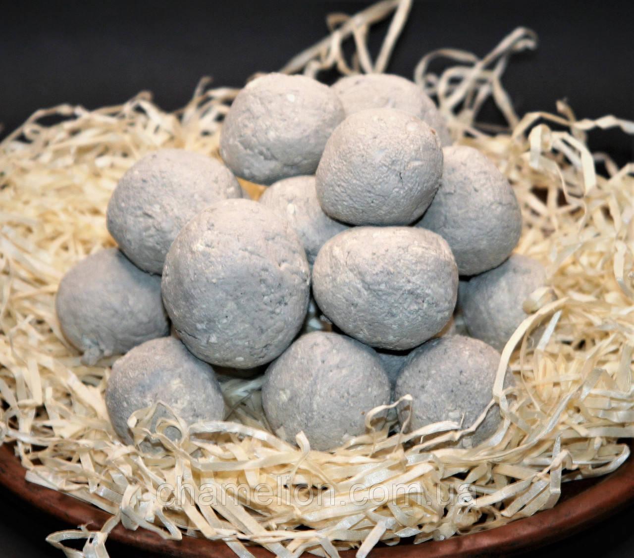 Кульки з білої глини і блакитної глини 5 штук (Шарики из белой глины и голубой глины 5 штук)