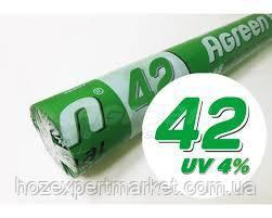 "Агроволокно ""Agreen"" 42g/m2,(ЧЕРНОЕ) 3.2х100м,(ПОЛЬША) СПАНБОНД, фото 2"