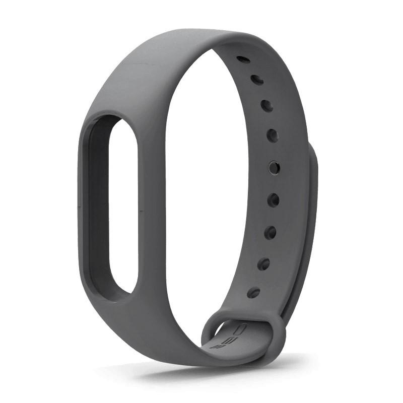Ремешок TPU для фитнес-браслета Xiaomi Mi Band 2 Dark gray