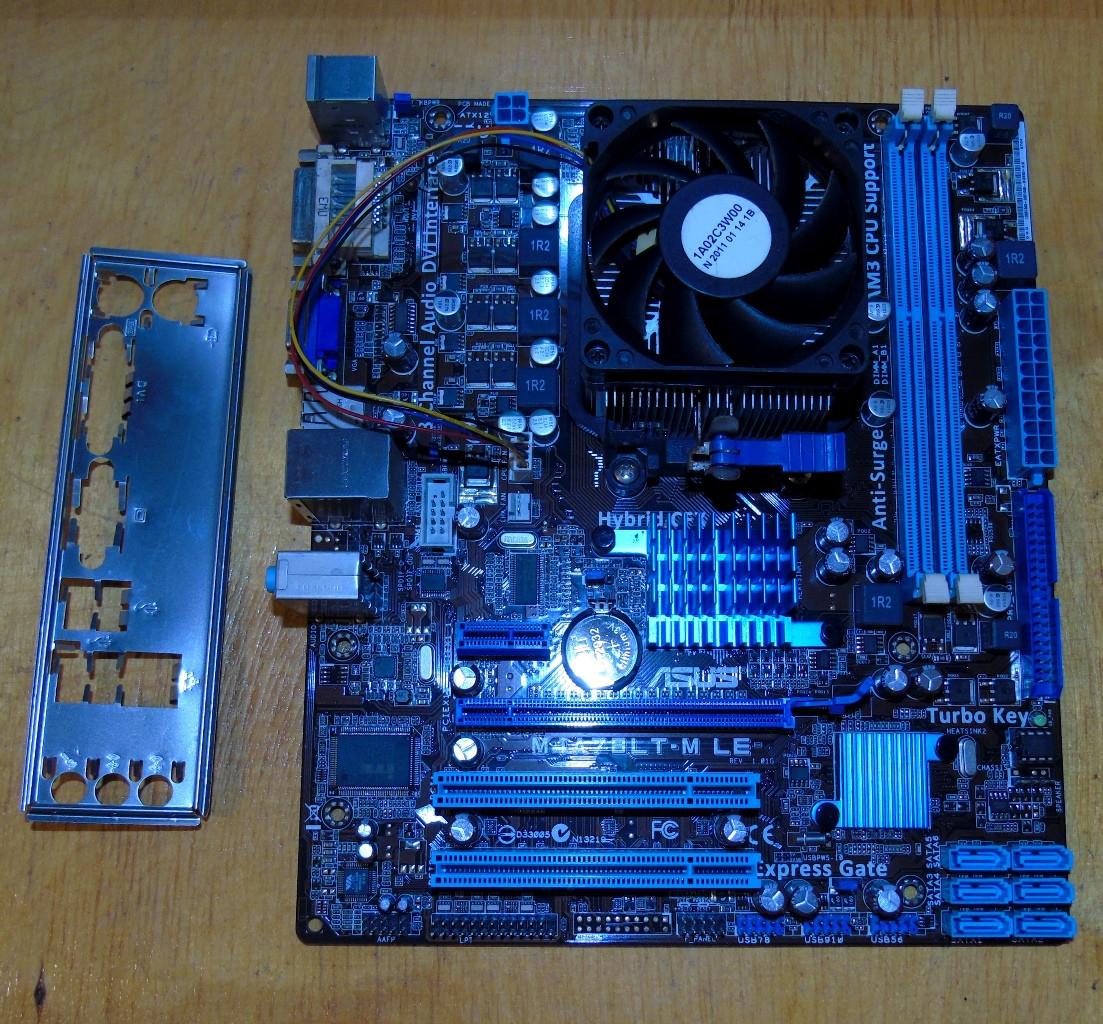 AM3 Материнская плата Asus M4A78LT-M LE + Процессор AMD Athlon II X4 640 @