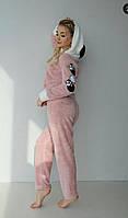 Женская махровая пижама красивая, теплая и мягкая, фото 1