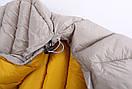 Пуховый спальный мешок Aegismax LETO +7°C +2°C. Размер M 700FP Серый., фото 6