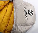 Пуховый спальный мешок Aegismax LETO +7°C +2°C. Размер M 700FP Серый., фото 10