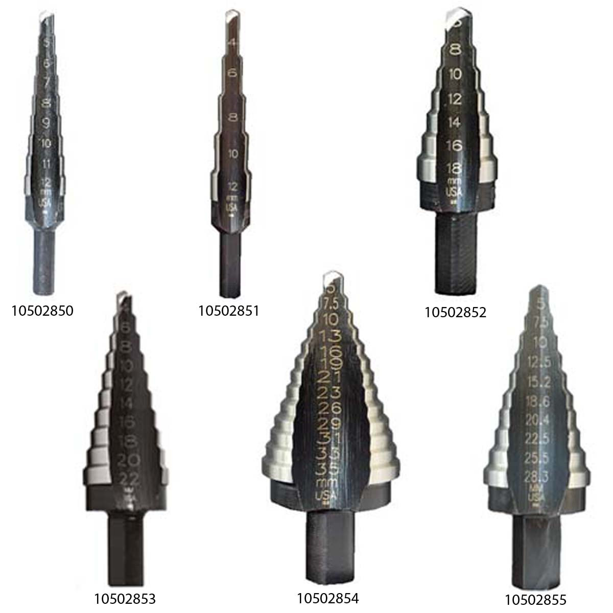 Многоступенчатое сверло UNIBIT 1M 4-12 мм 9 HOLES