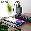Адаптер сетевой HOCO C84A, 4USB, 3.4A, черный, фото 4
