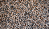Чехол на угловой диван натяжной еврочехол накидка жаккардовый Коричневый без оборки турецкие, фото 9