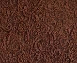 Чехол на угловой диван натяжной еврочехол накидка жаккардовый Коричневый без оборки турецкие, фото 2