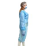 Халат медицинский универсальный 21VIKT на липучке с манжетой, фото 3