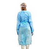 Халат медицинский универсальный 21VIKT на липучке с манжетой, фото 4