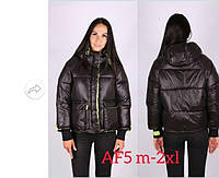 Черная топовая куртка Женская весенняя короткая дутая куртка