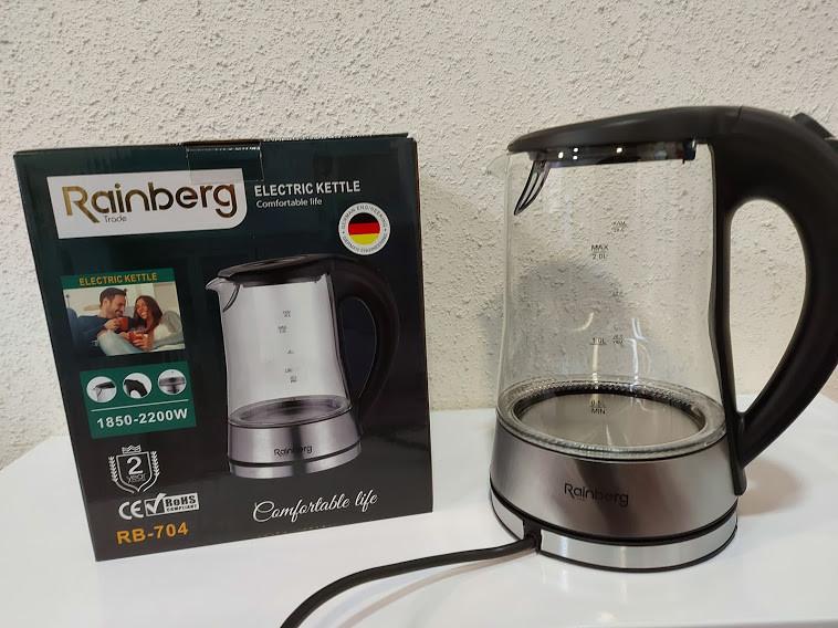 Электрический стеклянный чайник Rainberg RB-704