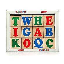 Кубики. Англійська абетка 12 кубиків Komarovtoys (Т603)