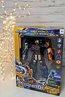 Трансформер 6 машинок в коробці, Великий трансформер, робот 6 в 1 Магма, ROBOT Magma 523, фото 1