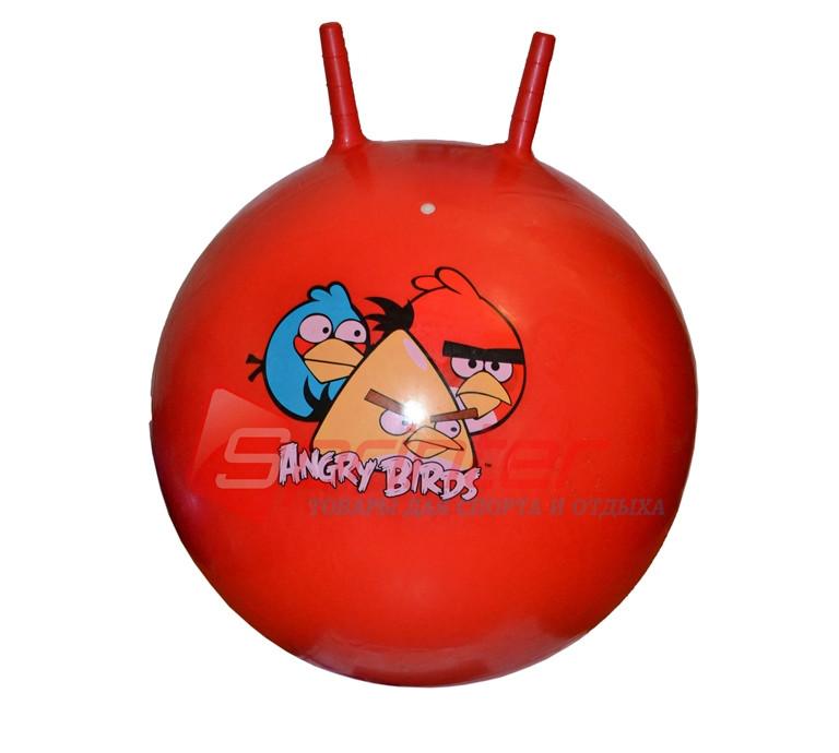 Мяч-прыгун с рожками d-60 см красный