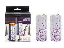 Свеча с цветным огнем Partylandia (GL4001-OP)