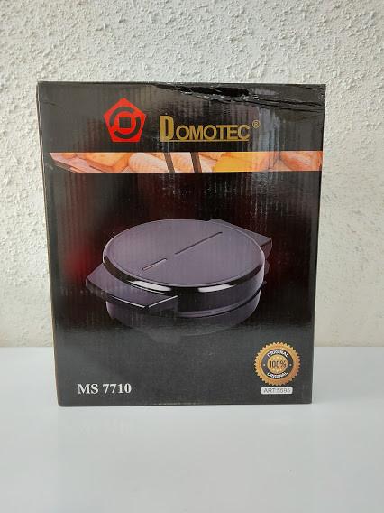 Вафельница DOMOTEC MS-7710 Черная (1000Вт, круглая)