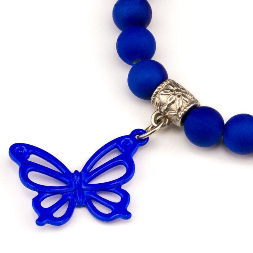 Браслет Olive Подвеска Бабочка 6х6х2 см Синий (25229)