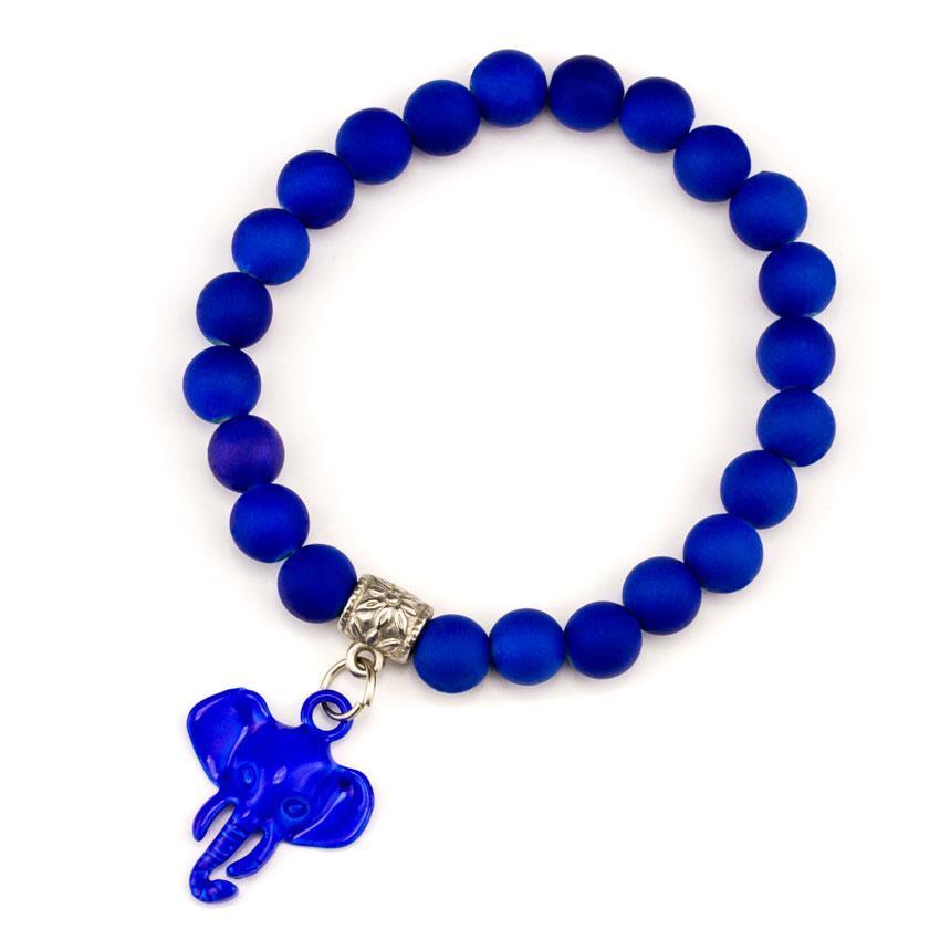Браслет Olive Подвеска Слон 6х6х2 см Синий (25236)