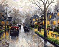 Картина рисование по номерам Mariposa Дождливая Англия. Худ. Томас Кинкейд 40х50см Q653 набор для росписи,