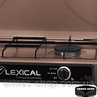 Настільна газова плита на 2 конфорки Lexical LGS-2812-5 | 3.7 KW, фото 2