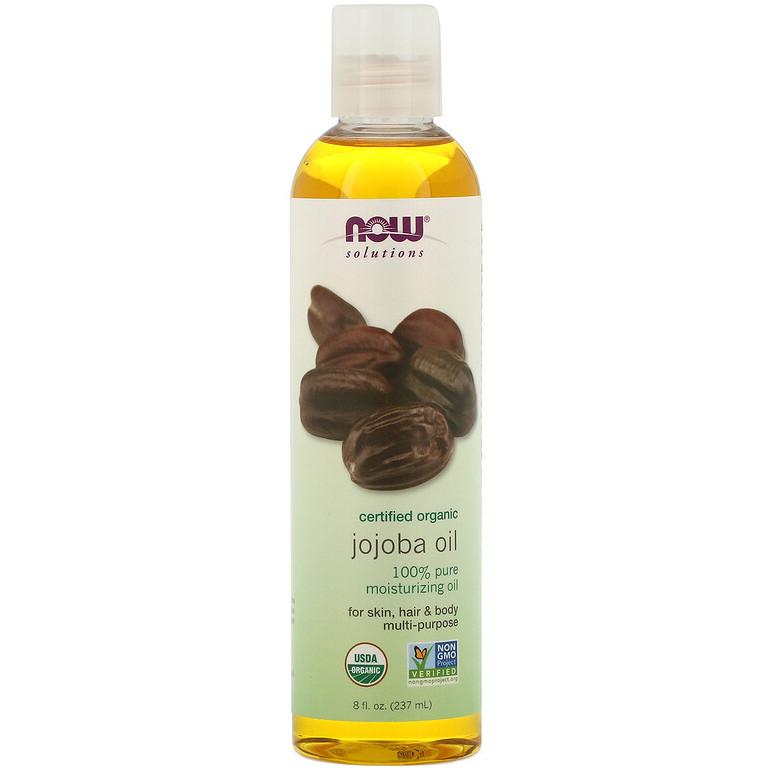 """Органічне масло жожоба NOW Foods, Solutions """"Organic Jojoba Oil"""" для шкіри, волосся і тіла (237 мл)"""