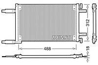 Радиатор кондиционера Fiat Doblo  1.9D