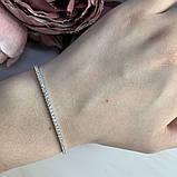 Серебряный браслет SilverBreeze с фианитами (2006480) 1720 размер, фото 3