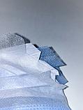 Медицинская маска Стандарт Плюс хирургическая штампованная трехслойная, с зажимом для носа 100 штук Голубой, фото 4