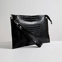 Кожаная сумка клатч 7 Кайман Черный (SK_07_kl_black_kayman)
