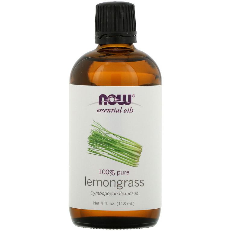 """Эфирное масло лемонграсса NOW Foods, Essential Oils """"Lemongrass"""" (118 мл)"""
