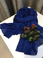 Шарф весенний 176х120 см, Синий