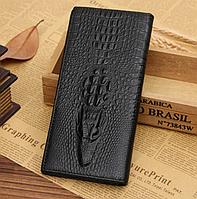 Мужской кожаный кошелек, клатч, портмоне Крокодил Alligator