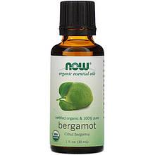 """Органическое эфирное масло бергамота NOW Foods, Organic Essential Oils """"Bergamot"""" (30 мл)"""