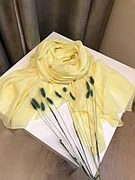 Шарф весенний 176х120 см, Лимонный