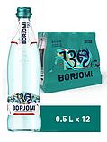 Упаковка минеральной лечебно-столовой сильногазированной воды Borjomi 0,5 х 12 стеклянных бутылок, фото 5