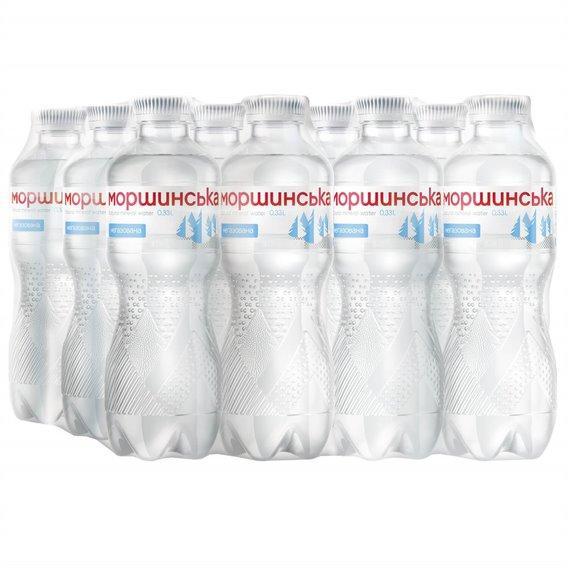 Упаковка минеральной природной столовой негазированной воды Моршинська 0,33 л х 12 бутылок